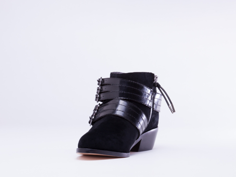L.A.M.B. In Black Suede Nenetta
