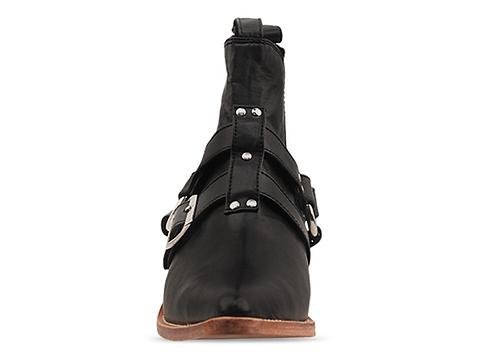 Lasskaa In Black Leather Cowboy Biker Boot