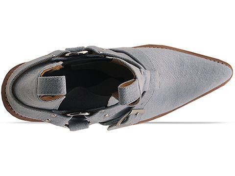 Lasskaa In Classic Vintage Denim Cowboy Biker Boot