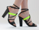LoveMade X Solestruck In Neon Yellow Black Charming Heel