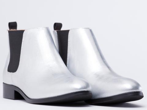 Marais USA In Silver Beatle Boot