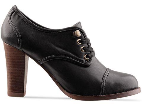 Marais USA In Black Lace Up Heel