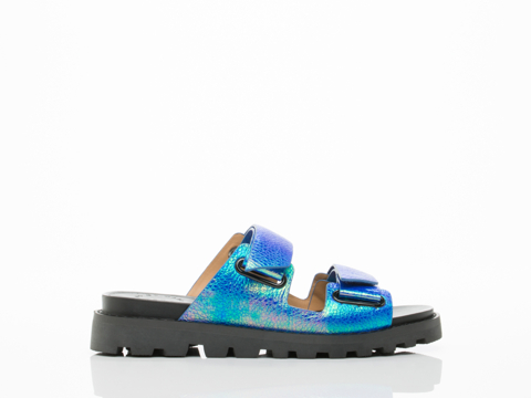Marc by Marc Jacobs In Mineral Blue Street Stomp Sandal