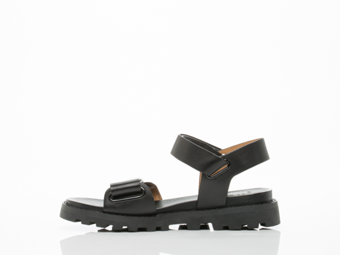 Marc by Marc Jacobs In Black Street Stomp Strap Sandal