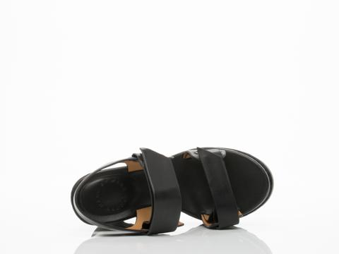Marc by Marc Jacobs In Black Street Stomp Wedge Sandal