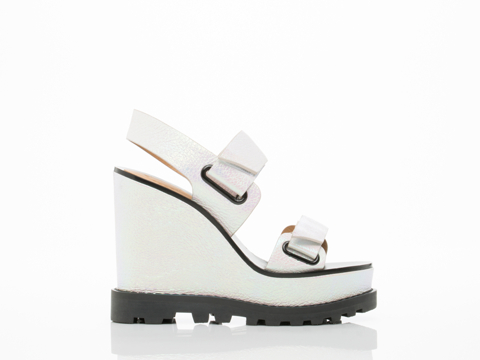 Marc by Marc Jacobs In Tinted Pearl Street Stomp Wedge Sandal