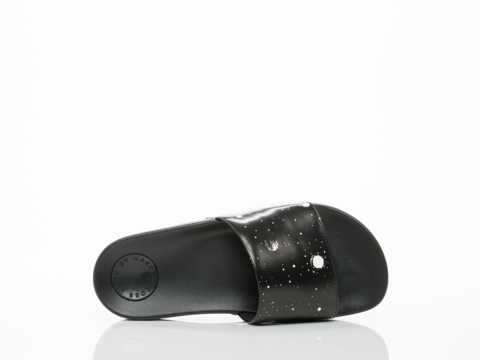 Marc by Marc Jacobs In Black Multi Tech Flip Flop