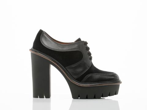 Marc by Marc Jacobs In Black Velvet Uniform Heel