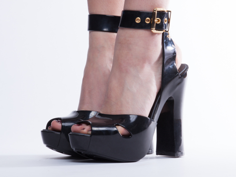 Melissa X Vivienne Westwood In Black Slave Sandal