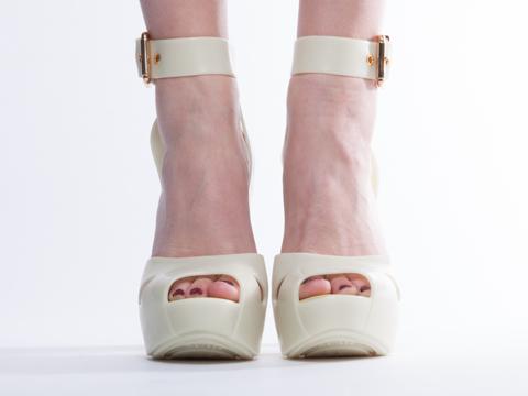Melissa X Vivienne Westwood In Green Slave Sandal