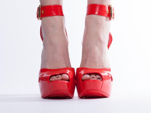 Melissa X Vivienne Westwood In Red Slave Sandal