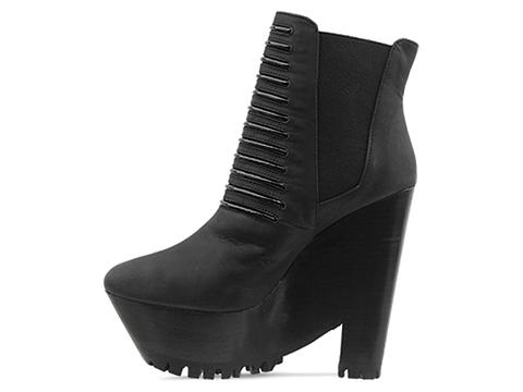 Messeca In Black Leather Bridgette