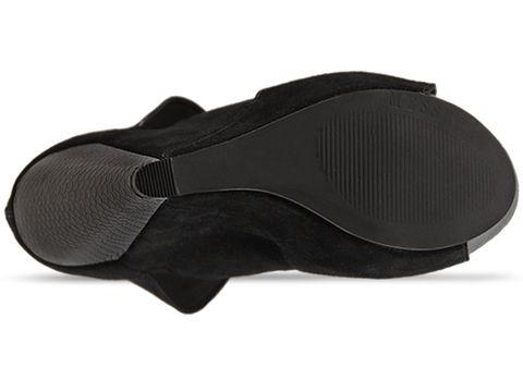 Messeca In Black Suede Coraline Python