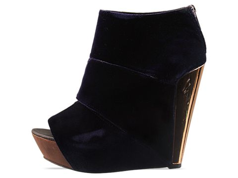 Messeca In Navy Coraline Velvet