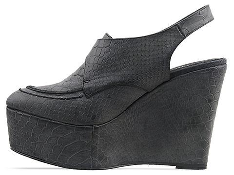 Messeca In Black Croc Scarlet