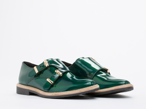 Miista In Iridescent Green Victoria