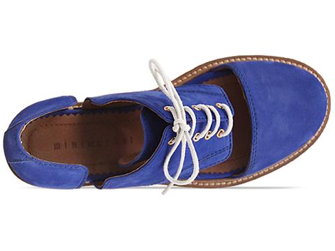 Minimarket In Blue Flat Lace Up Cut Out