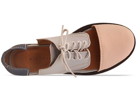 Minimarket In Multicolor Flat Lace Up Cut Out