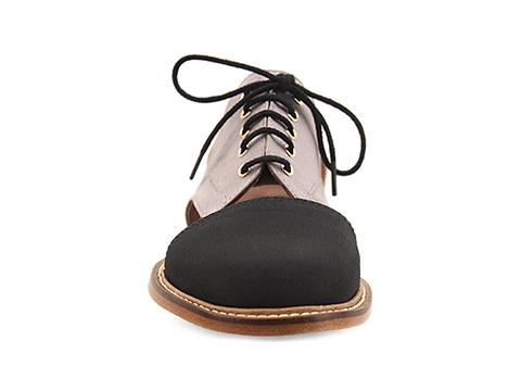 Minimarket In Salmon Gris Flat Lace Up Cut Out