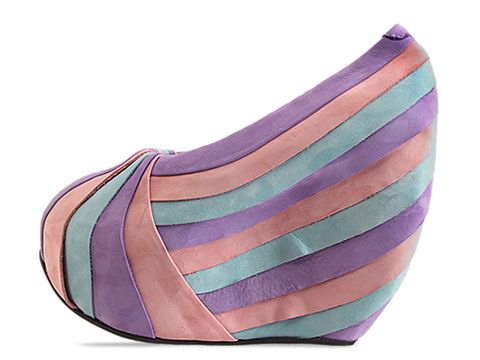 Minimarket In Blue Purple Pink Pleated Pump