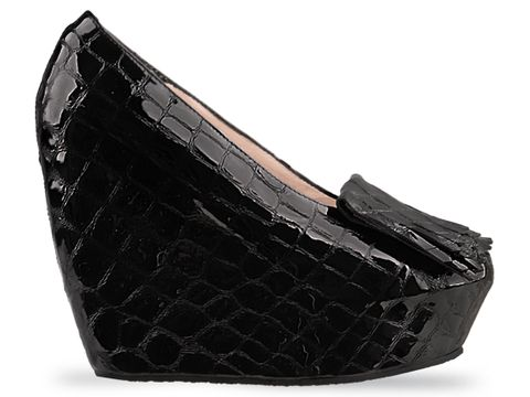 Minimarket In Black Crocco Patent Space Shoe Pump