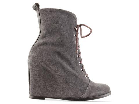 Minimarket In Grey Suede Wedge Boot