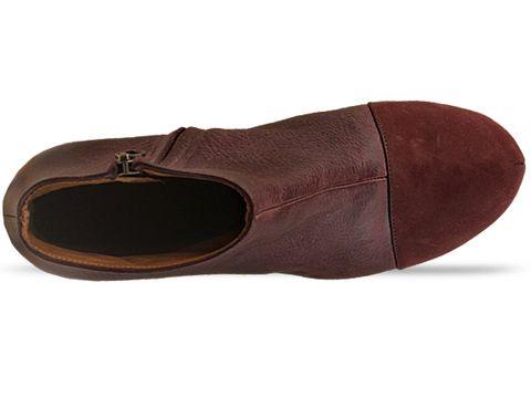 Minimarket In Purple Slate Wedge Wood Leather