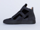 MM6 Maison Martin Margiela In Black Leather Black Velvet Combo Sneaker