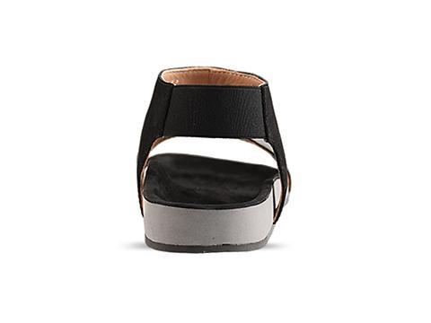 MM6 Maison Martin Margiela In Black Flat Sandal