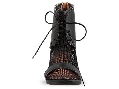 MM6 Maison Martin Margiela In Black Mesh Sandal
