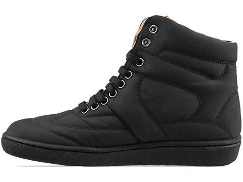 MM6 Maison Martin Margiela In Black Nylon Sneaker
