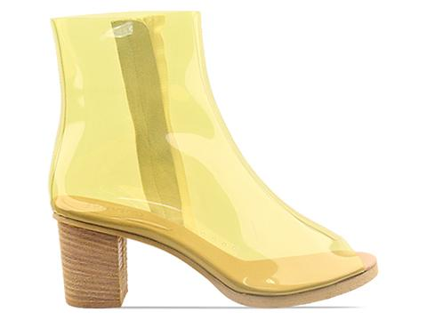 MM6 Maison Martin Margiela In Yellow Transparent Boot