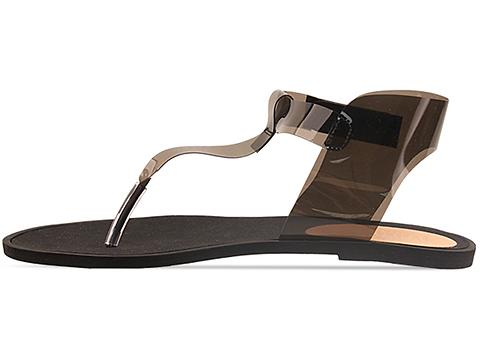 MM6 Maison Martin Margiela In Black Transparent Sandal