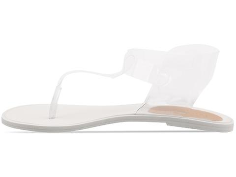 MM6 Maison Martin Margiela In Clear Transparent Sandal