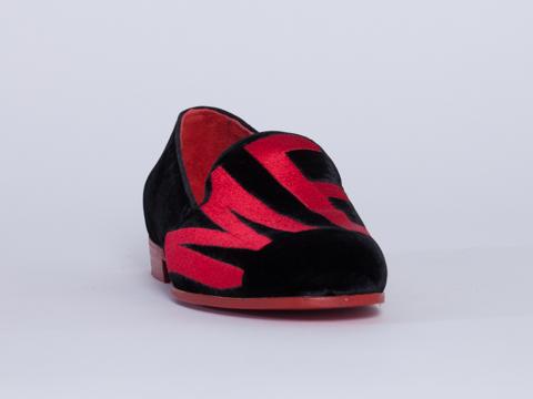 Modern Vice In Black Velvet Mercy Loafer