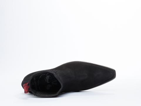 NaNa X Solestruck In Black Suede Bobbi