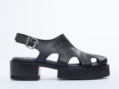 NaNa X Solestruck In Black Leather Juliette