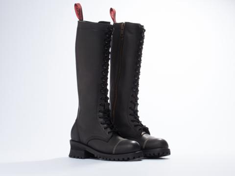NaNa X Solestruck In Black Leather Nanette