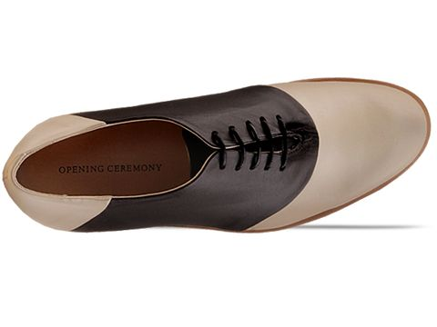 Opening Ceremony In Cream Black Leather CL M9 Mens