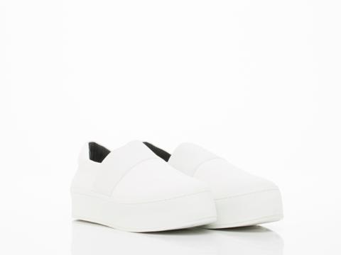 Opening Ceremony In White Elastic Slip On Sneaker