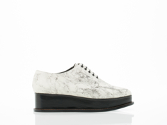 Opening Ceremony In Off White Multi Marble Eleanora Platform Oxford