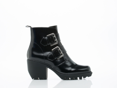 Opening Ceremony In Black Shiny Grunge Bootie