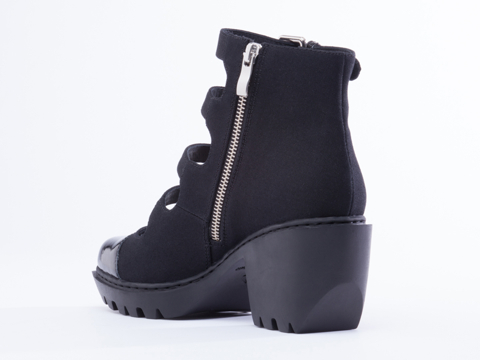 Opening Ceremony In Black Grunge Buckle Boot