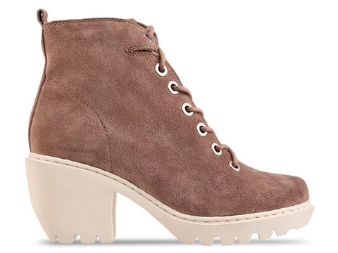 Opening Ceremony In Taupe Grunge Lace Up Bootie