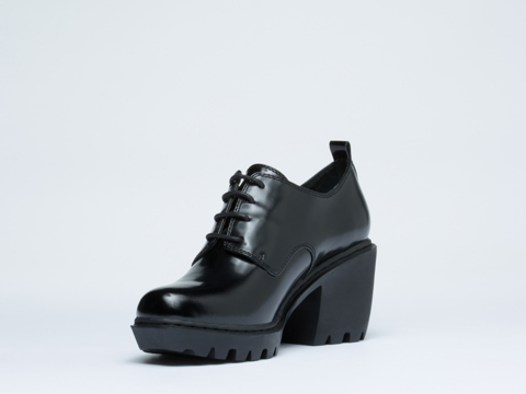 Opening Ceremony In Black Patent Grunge Oxford