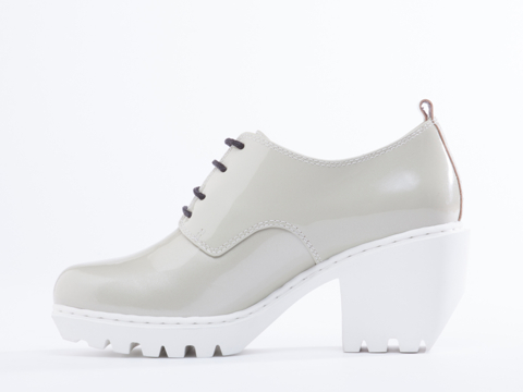 Opening Ceremony In Silver Pearl Patent Grunge Oxford