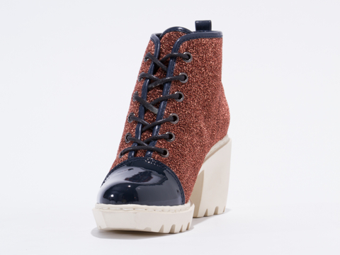 Opening Ceremony In Copper Metallic Grunge Sneaker