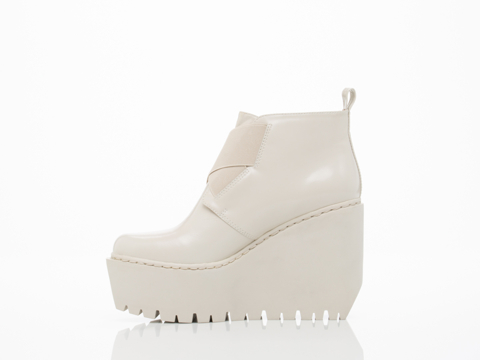 Opening Ceremony In Clay Grey Grunge Wedge Boot