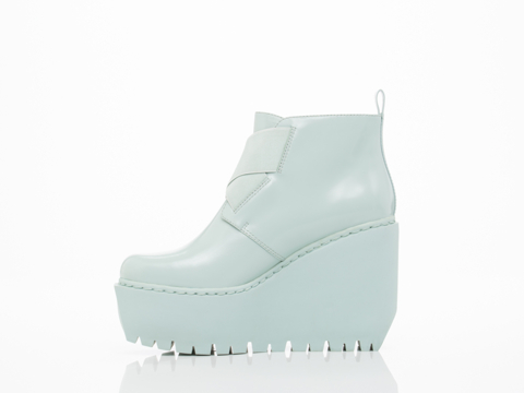 Opening Ceremony In Mist Blue Grunge Wedge Boot
