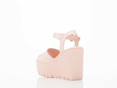 Opening Ceremony In Blush Pink Grunge Wedge Sandal